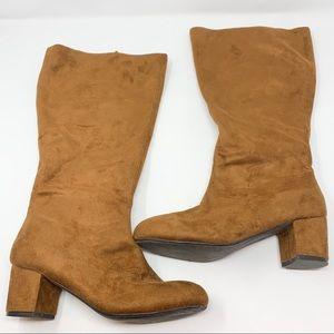 Comtortview Antonela Camel Block Heeled Boots 7